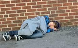 Homeless Kid Sleeping